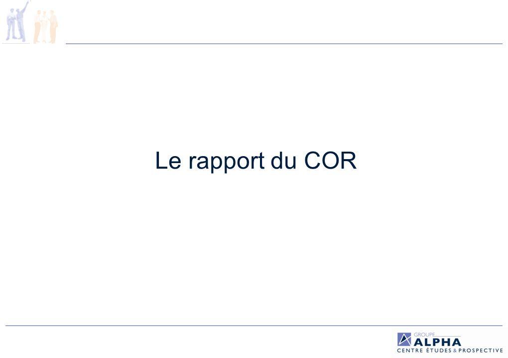 Le rapport du COR