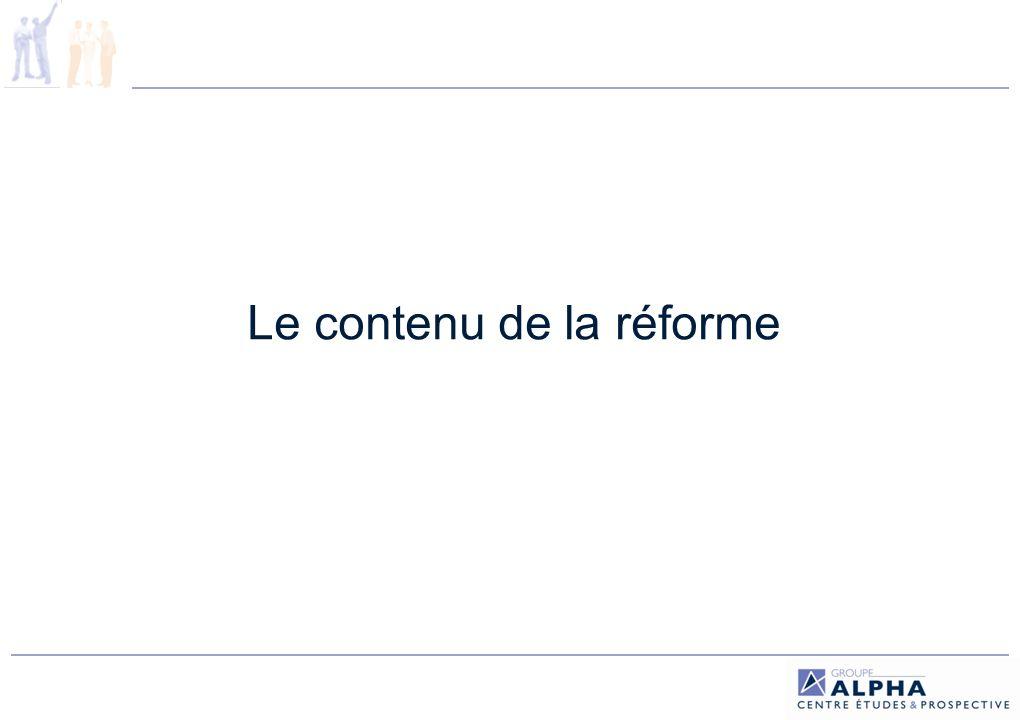Le contenu de la réforme