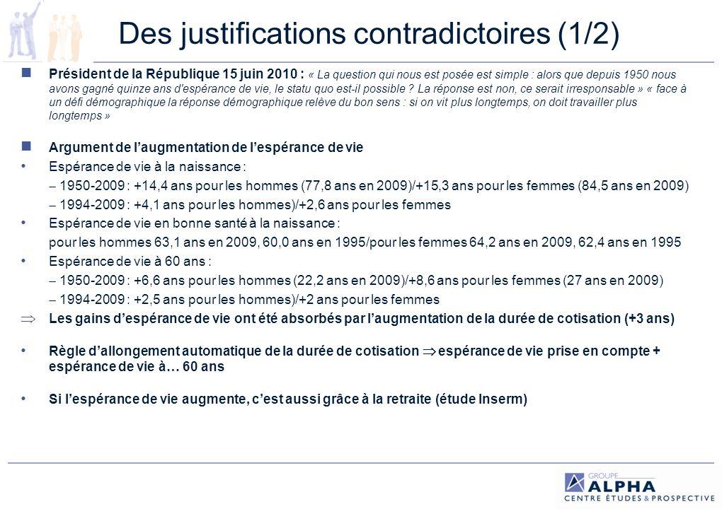 Des justifications contradictoires (1/2)