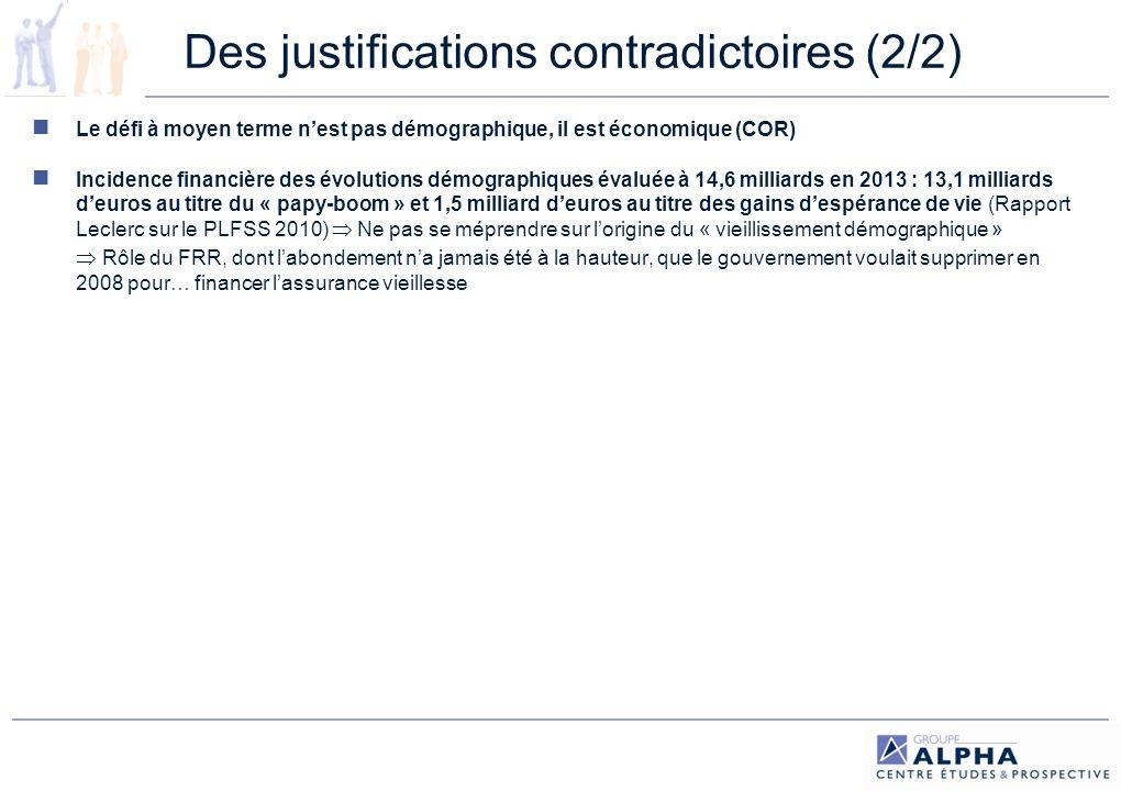 Des justifications contradictoires (2/2)