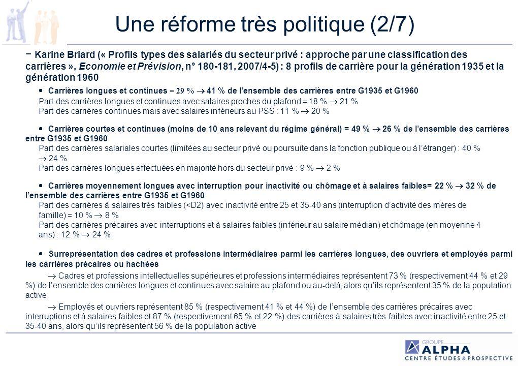 Une réforme très politique (2/7)