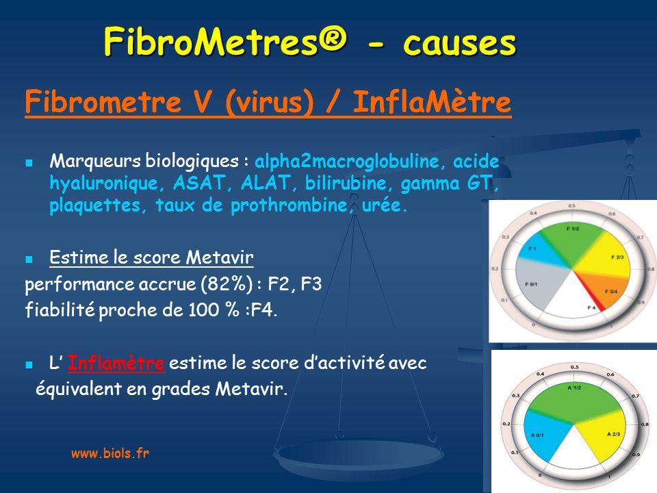 FibroMetres® - causes Fibrometre V (virus) / InflaMètre