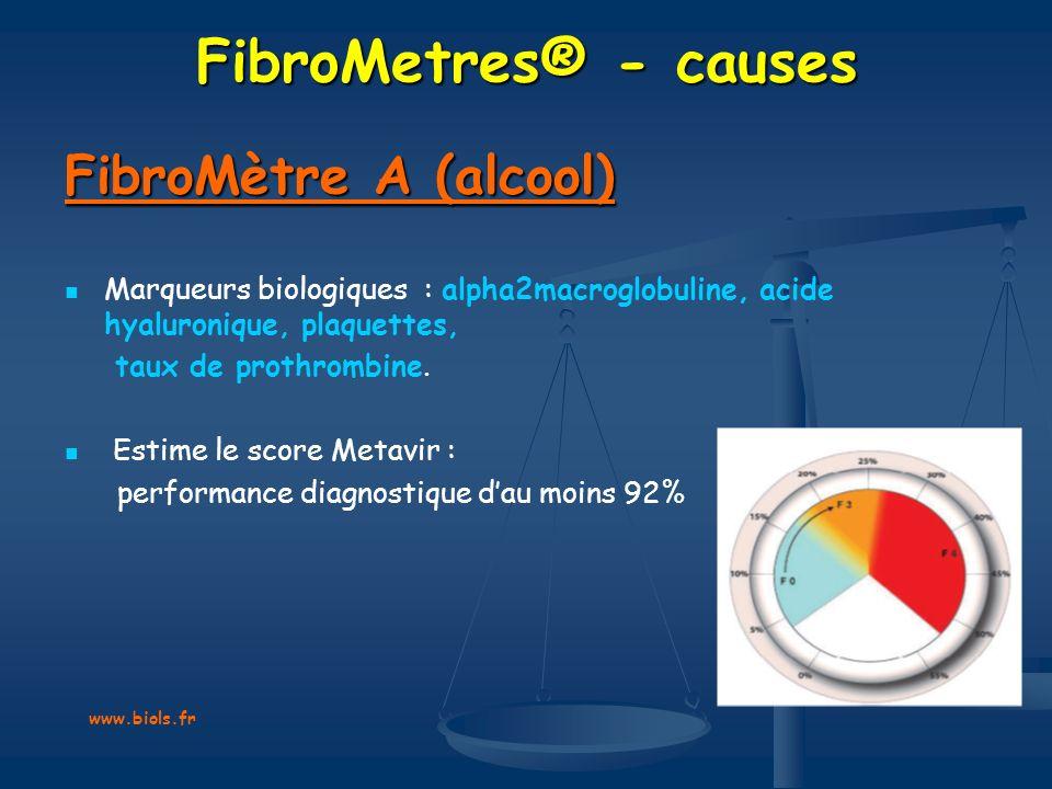 FibroMetres® - causes FibroMètre A (alcool)