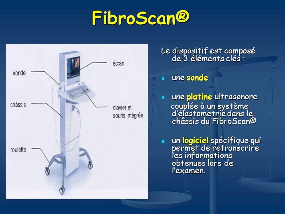 FibroScan® Le dispositif est composé de 3 éléments clés : une sonde