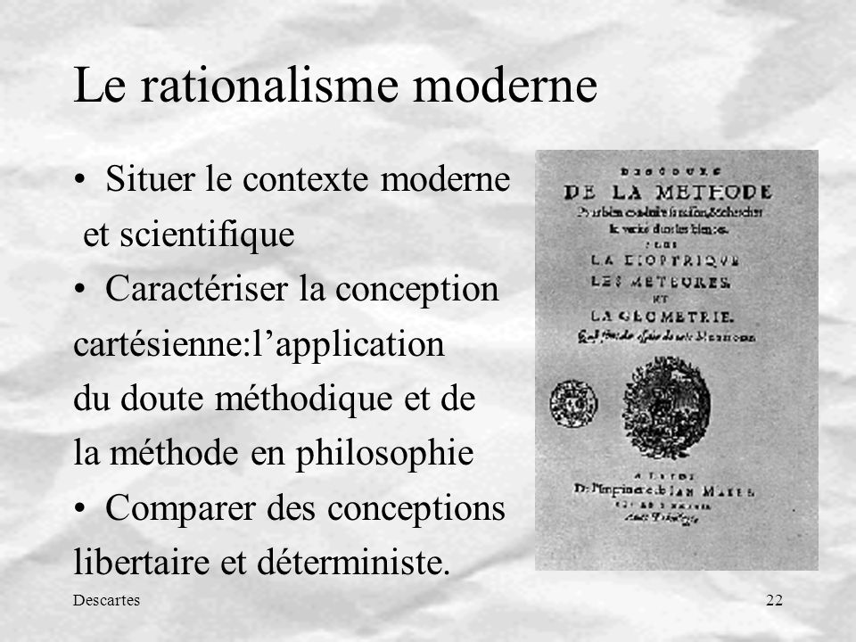 Le rationalisme moderne