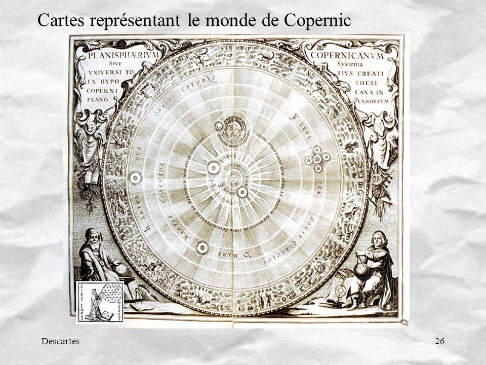 Cartes représentant le monde de Copernic