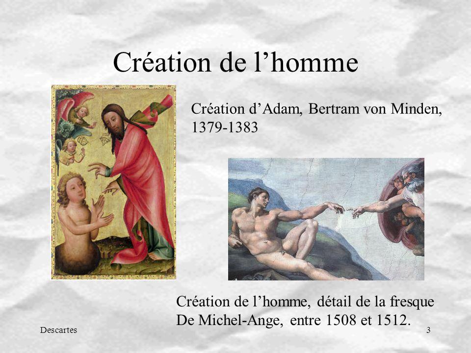Création de l'homme Création d'Adam, Bertram von Minden, 1379-1383