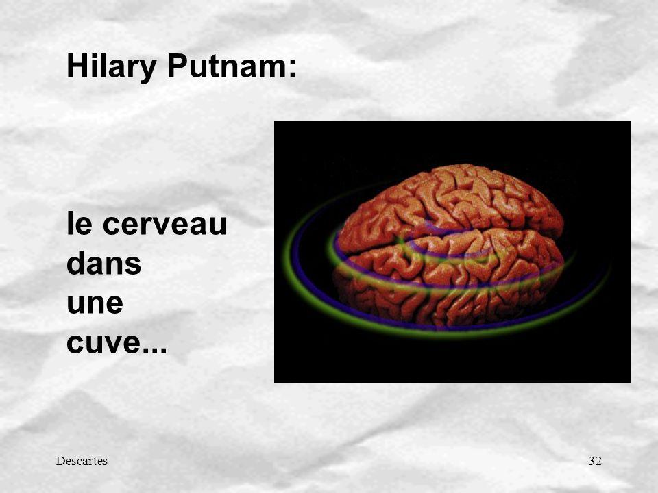 Hilary Putnam: le cerveau dans une cuve... Descartes