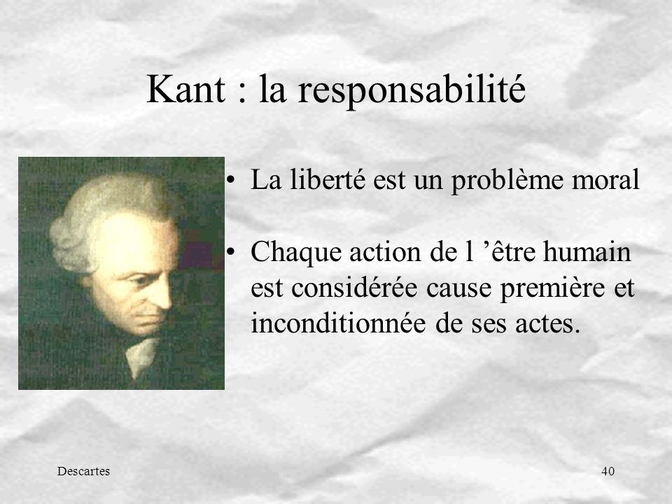 Kant : la responsabilité