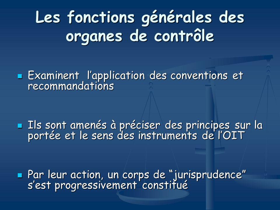 Les fonctions générales des organes de contrôle