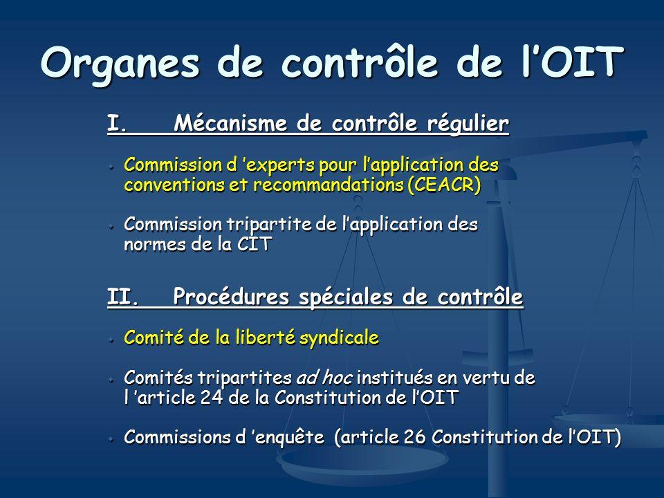 Organes de contrôle de l'OIT