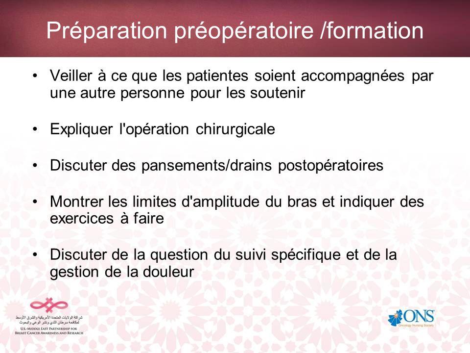 Préparation préopératoire /formation