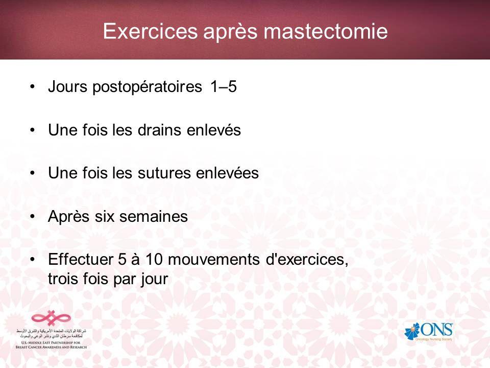 Exercices après mastectomie