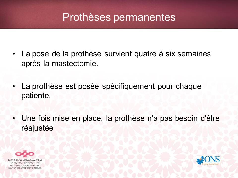 Prothèses permanentes
