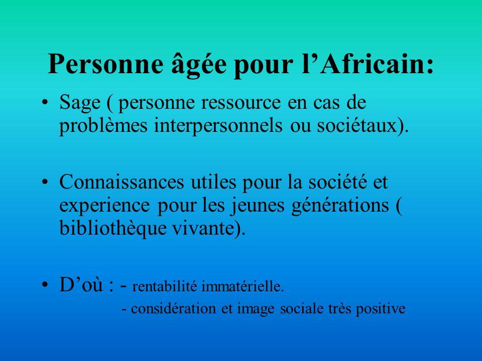 Personne âgée pour l'Africain: