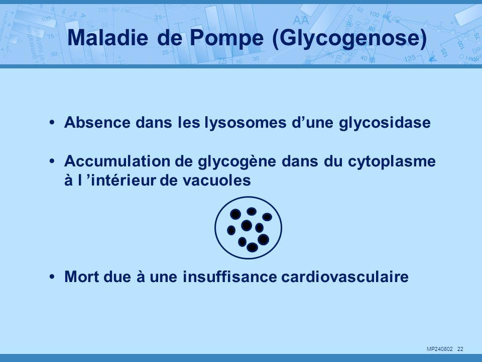 Maladie de Pompe (Glycogenose)
