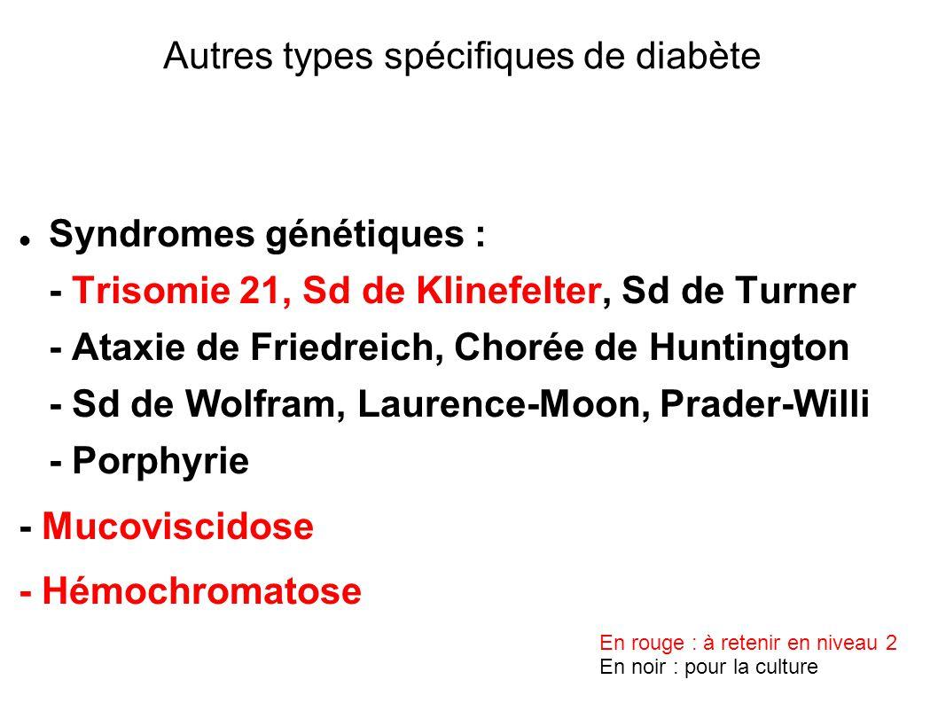Autres types spécifiques de diabète
