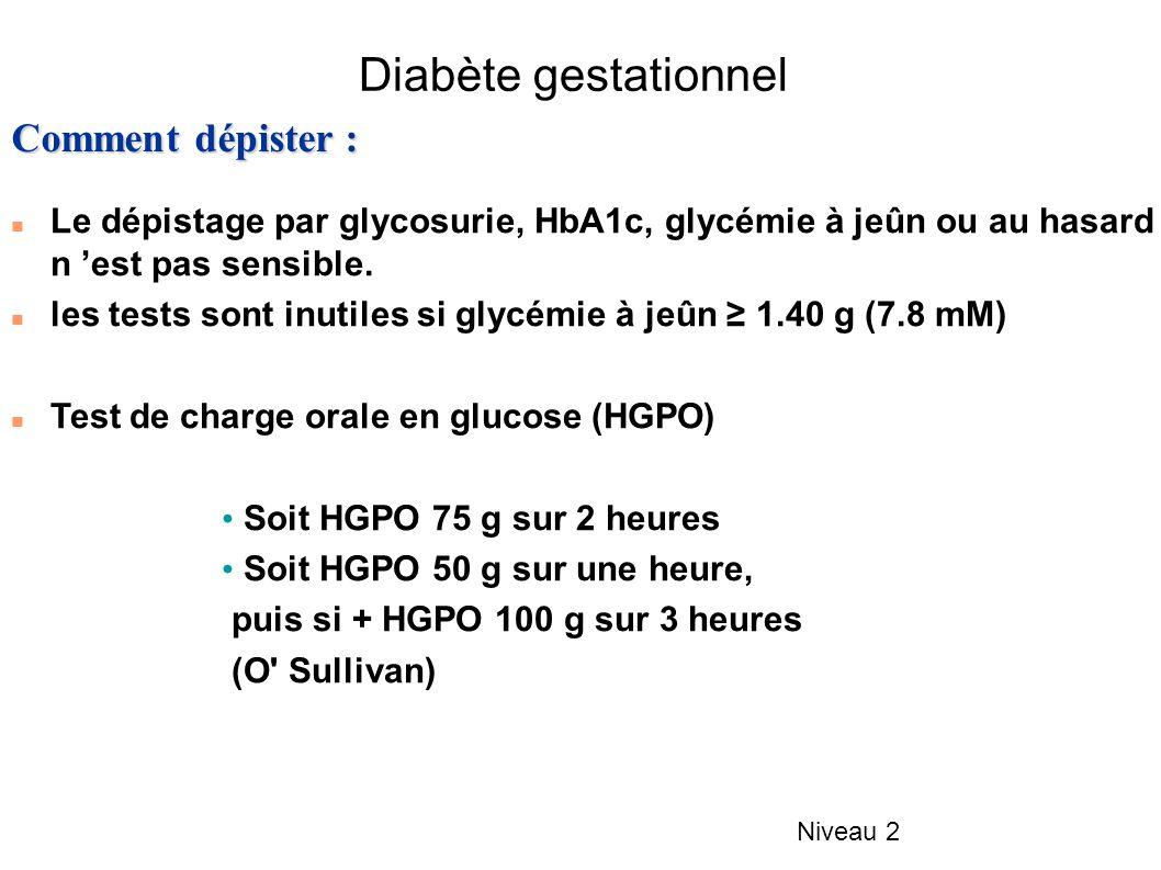 Diabète gestationnel Comment dépister :