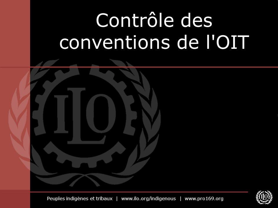 Contrôle des conventions de l OIT