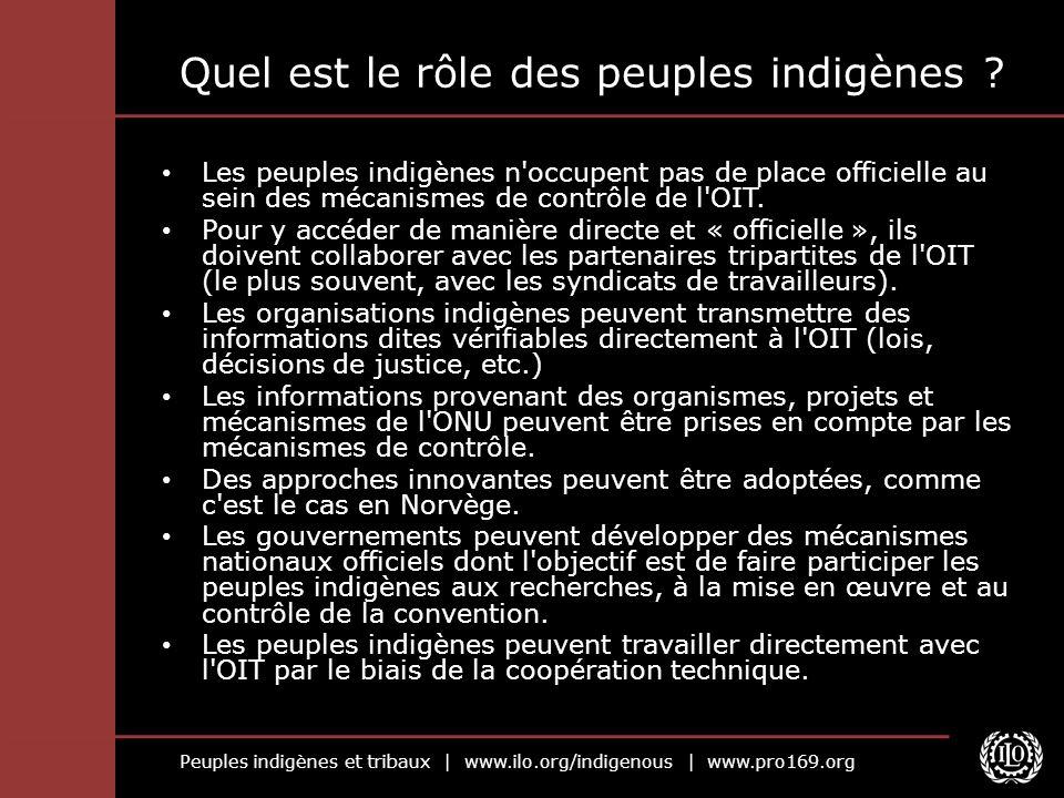 Quel est le rôle des peuples indigènes