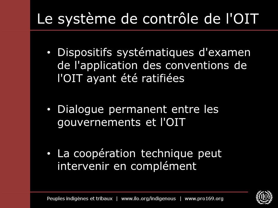 Le système de contrôle de l OIT
