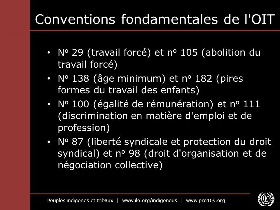 Conventions fondamentales de l OIT