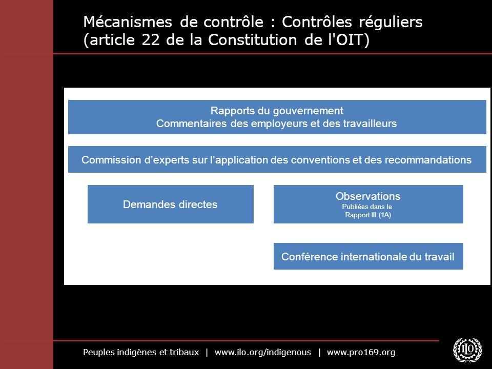 Mécanismes de contrôle : Contrôles réguliers (article 22 de la Constitution de l OIT)