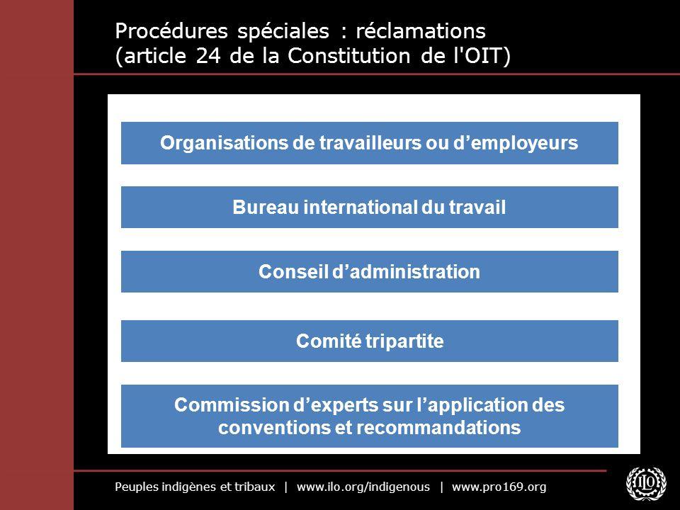Procédures spéciales : réclamations (article 24 de la Constitution de l OIT)