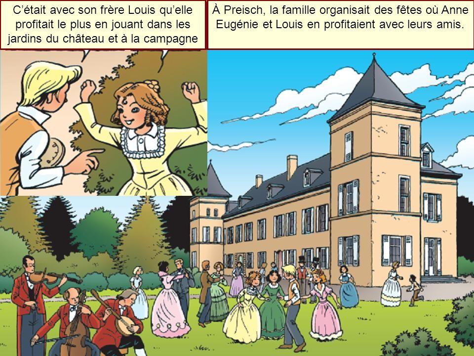 C'était avec son frère Louis qu'elle profitait le plus en jouant dans les jardins du château et à la campagne