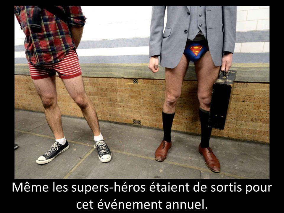 Même les supers-héros étaient de sortis pour cet événement annuel.