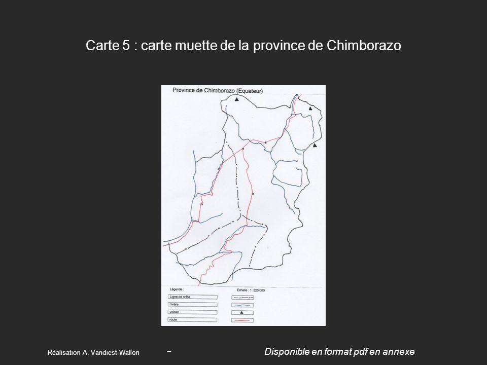 Carte 5 : carte muette de la province de Chimborazo