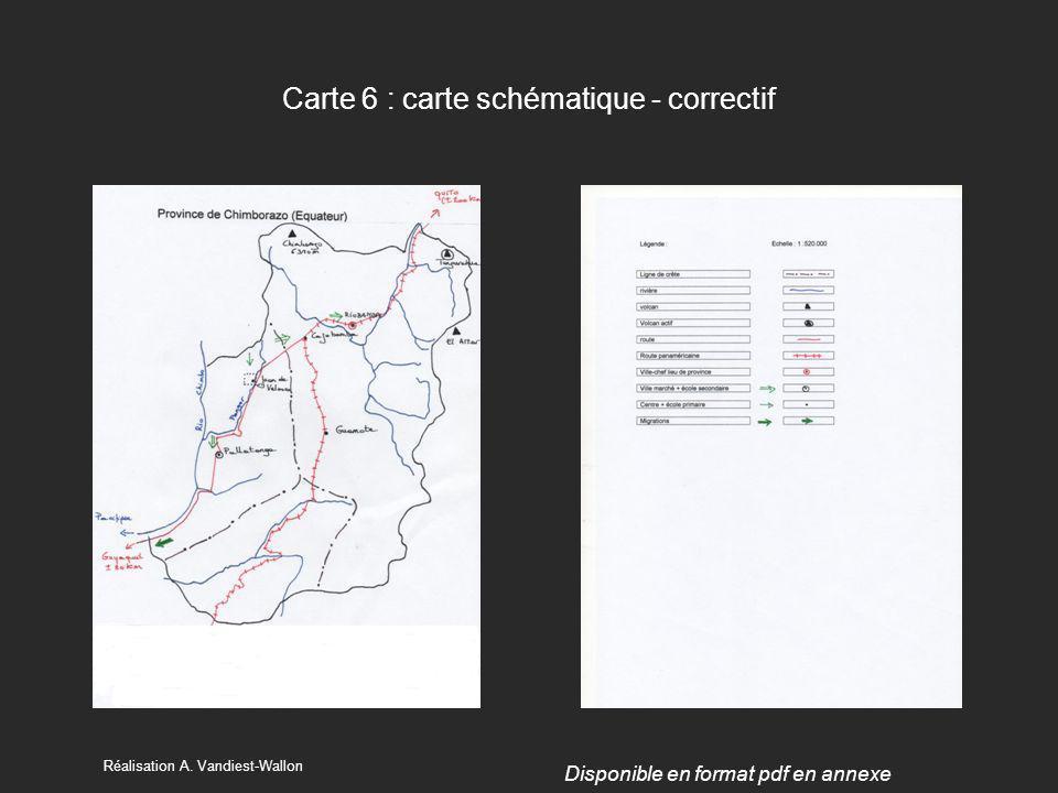 Carte 6 : carte schématique - correctif