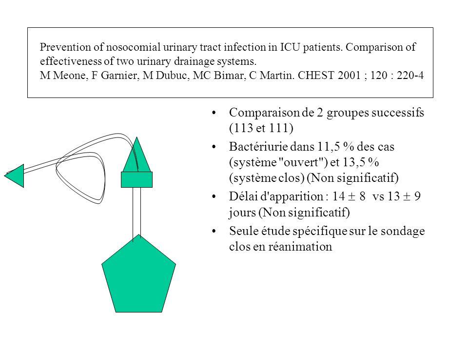 Comparaison de 2 groupes successifs (113 et 111)