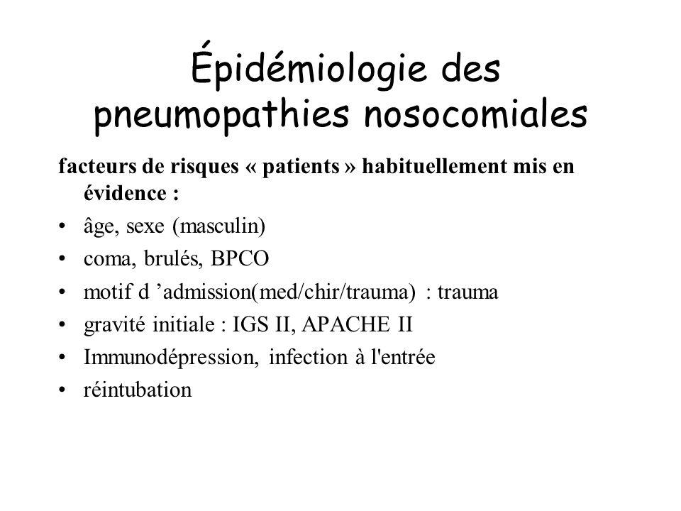 Épidémiologie des pneumopathies nosocomiales