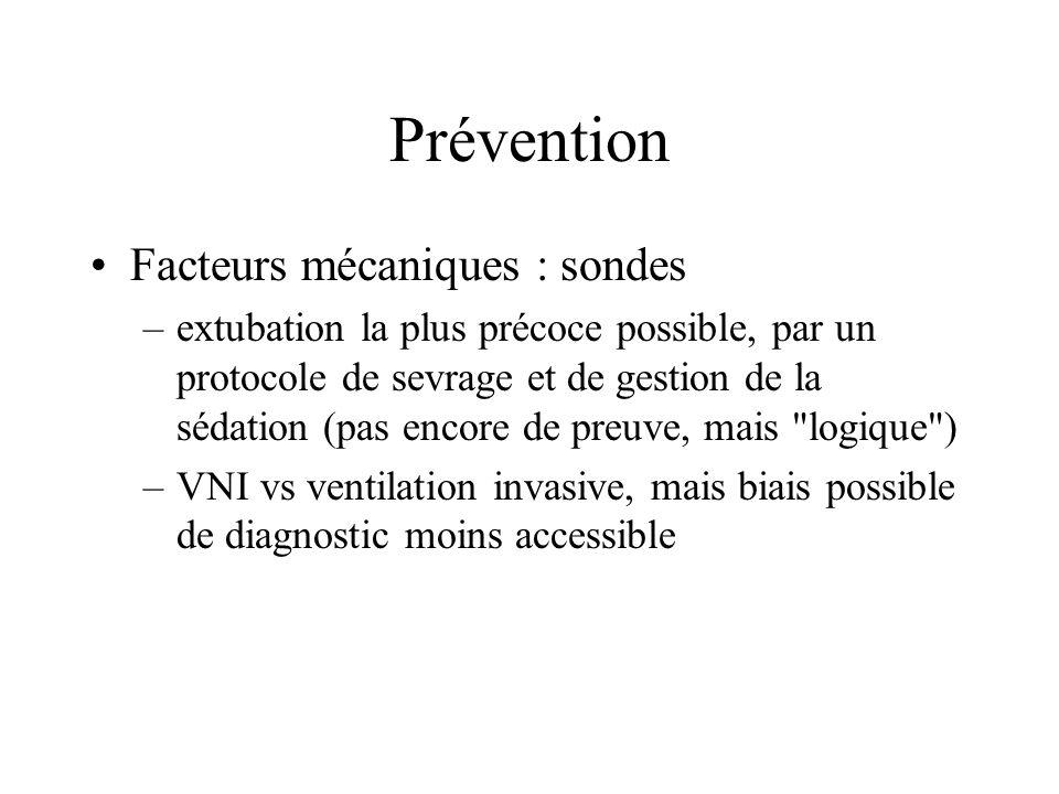 Prévention Facteurs mécaniques : sondes