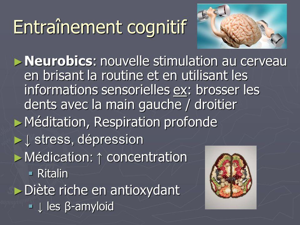 Entraînement cognitif