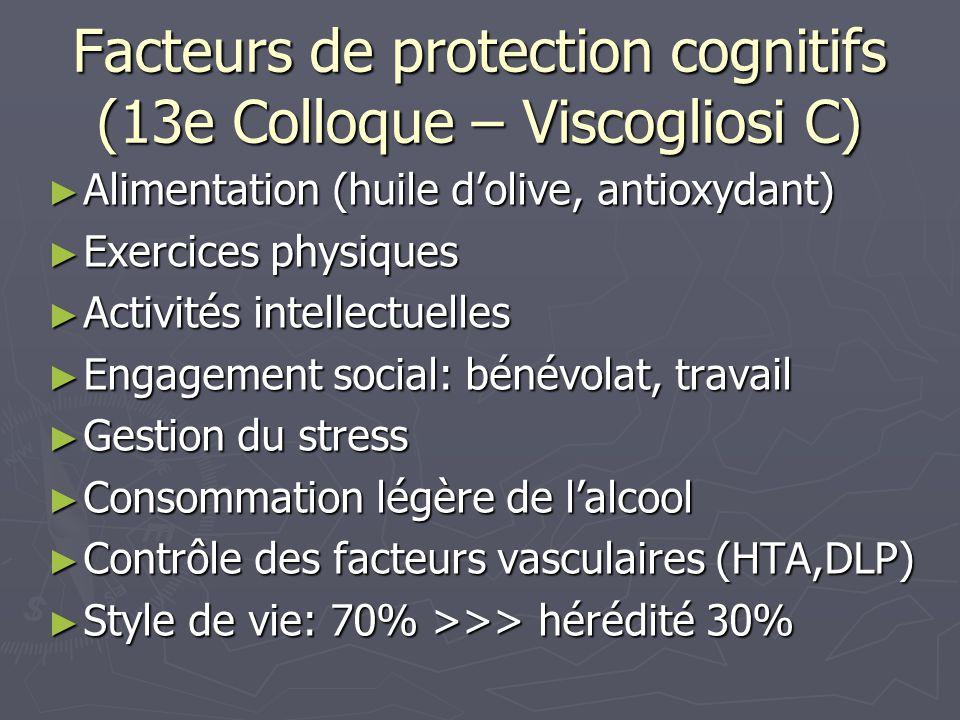 Facteurs de protection cognitifs (13e Colloque – Viscogliosi C)
