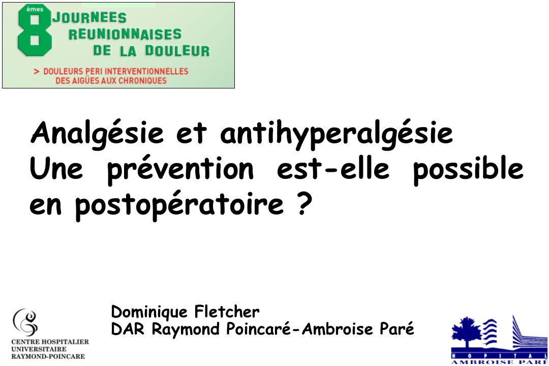 Analgésie et antihyperalgésie