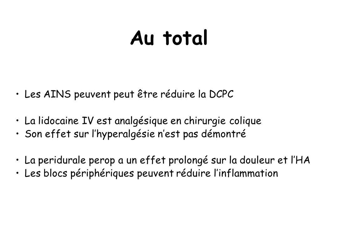 Au total Les AINS peuvent peut être réduire la DCPC