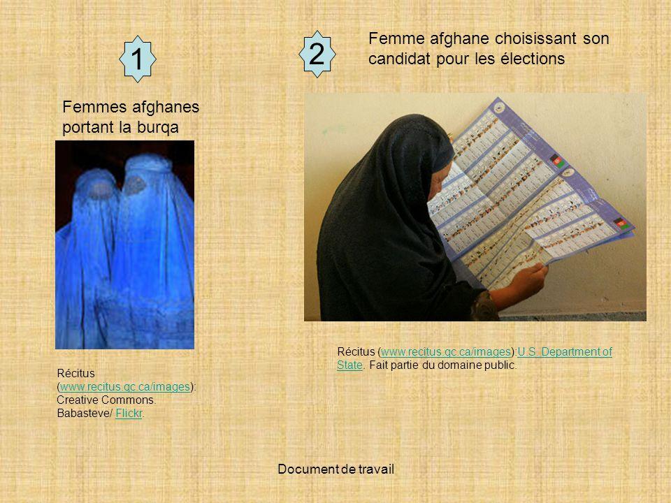 2 1 Femme afghane choisissant son candidat pour les élections