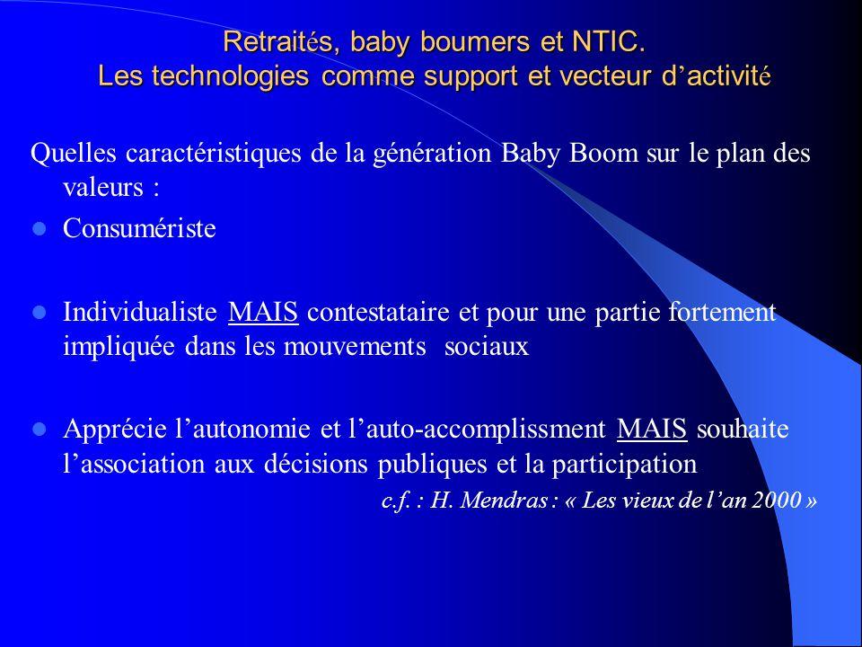 Retraités, baby boumers et NTIC