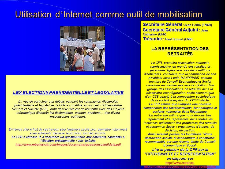 Utilisation d'Internet comme outil de mobilisation