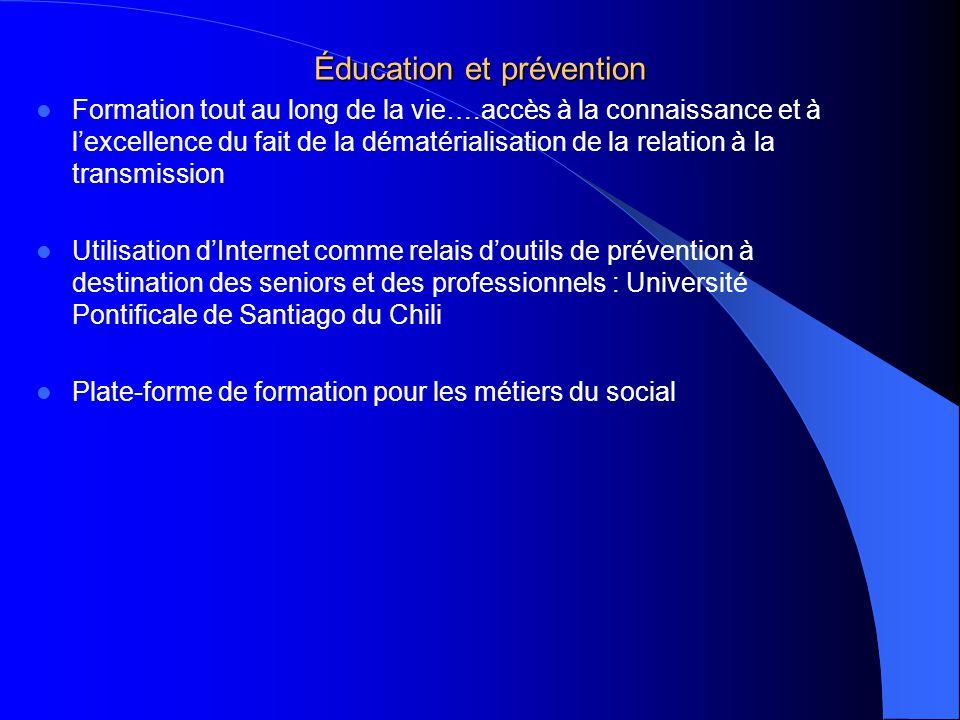 Éducation et prévention