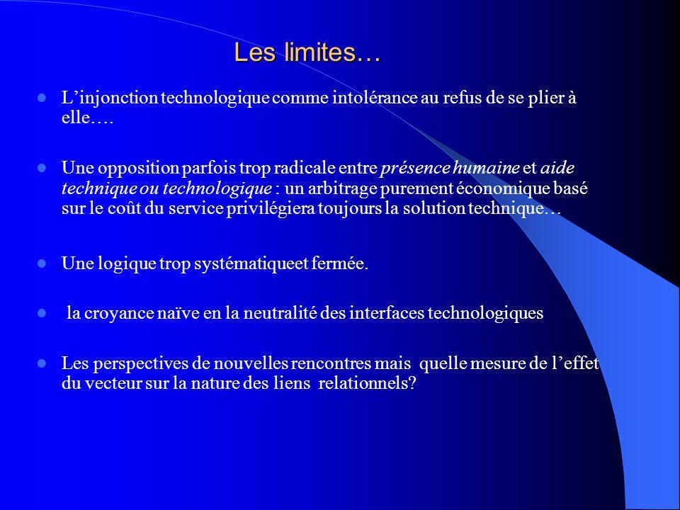 Les limites… L'injonction technologique comme intolérance au refus de se plier à elle….