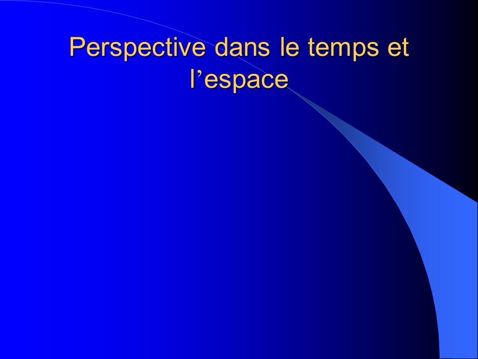 Perspective dans le temps et l'espace