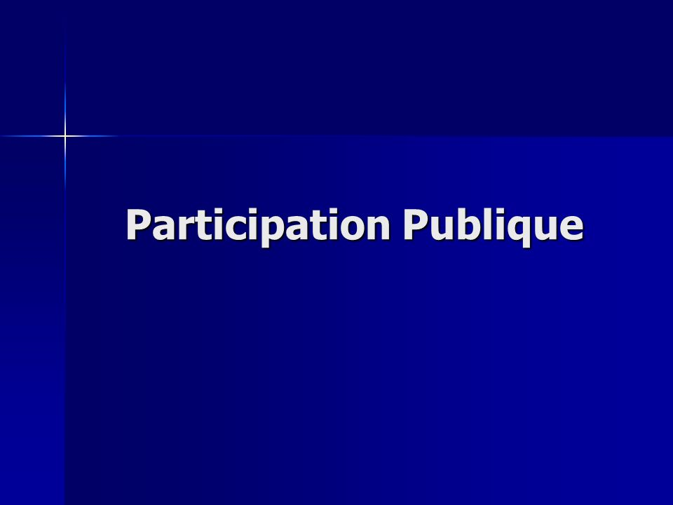 Participation Publique