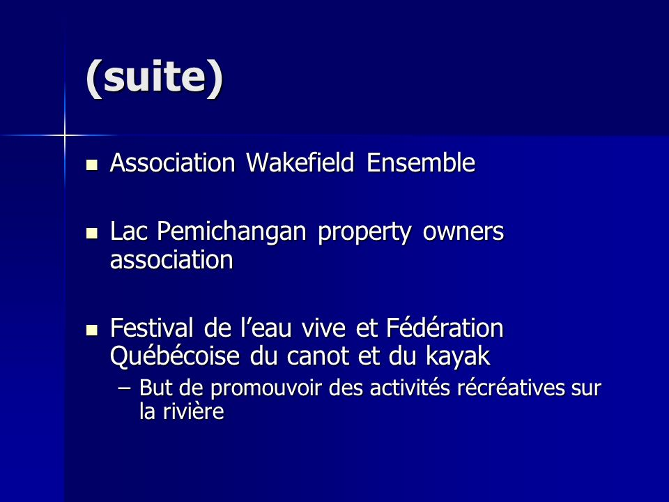 (suite) Association Wakefield Ensemble