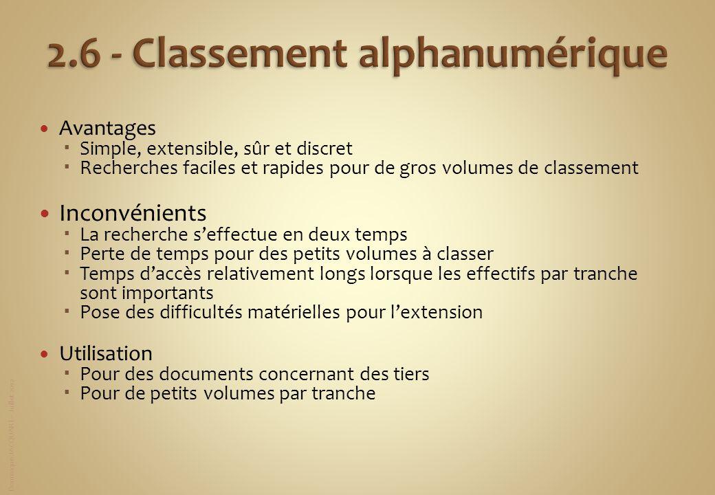 2.6 - Classement alphanumérique