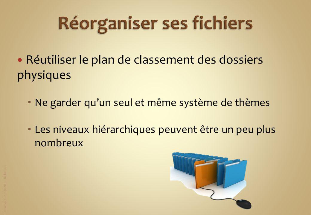 Réorganiser ses fichiers