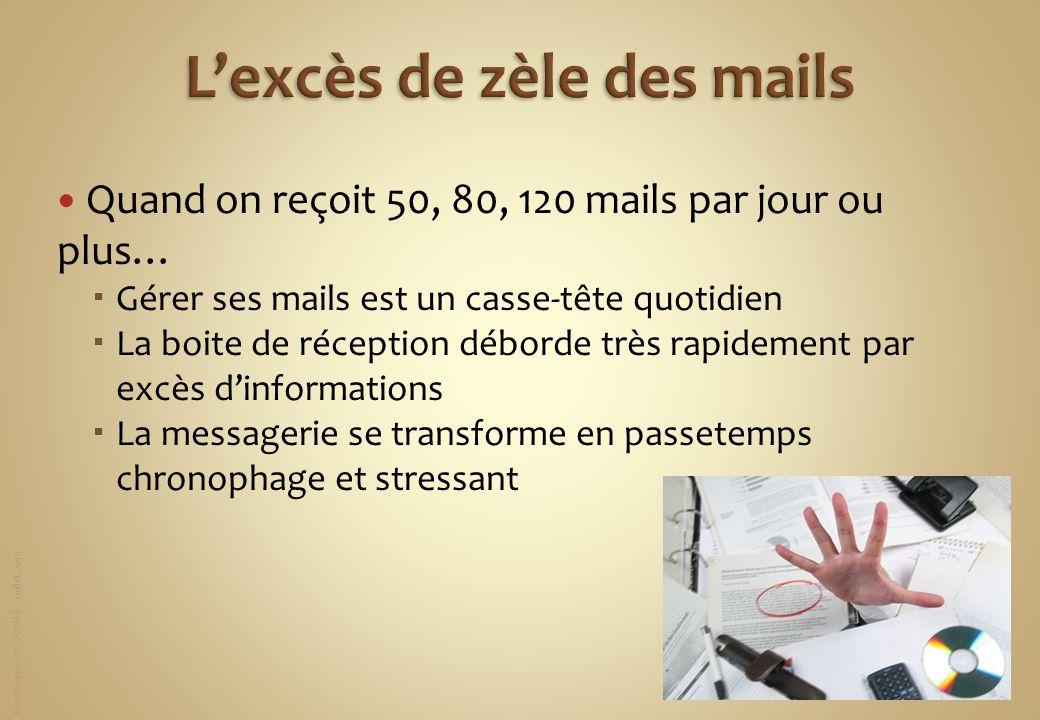 L'excès de zèle des mails